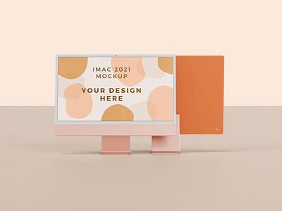 iMac 2021 Mockup all variant colors web ux ui presentation theme macbook mac laptop display simple clean realistic phone mockup smartphone device mockup abstract phone imac 2021 imac