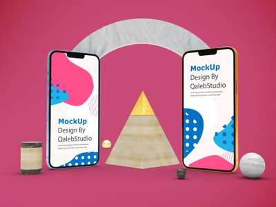 Abstract iPhone 13 Mockups design ux ui theme display simple clean realistic phone mockup smartphone device mockup abstract phone 13 screen apple iphone 13 pro iphone 13 iphone