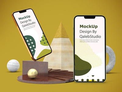 Abstract iPhone 13 Mockups ux ui presentation theme display simple clean realistic phone mockup smartphone device mockup abstract phone 13 screen apple iphone 13 pro iphone 13 iphone
