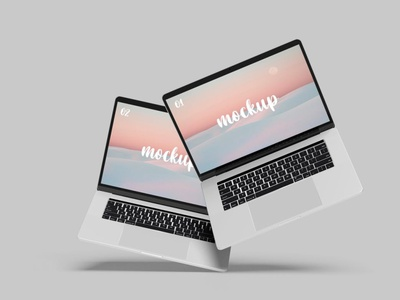 Laptop Mockups mockup webpage web ux ui presentation theme macbook mac laptop display simple clean device abstract phone notebook realistic view apple