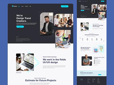 """Instar"" Design Trend Creators Landing Page. designer ux mordern blog creative web ui ux web interface landing page design motion graphics branding graphic design"