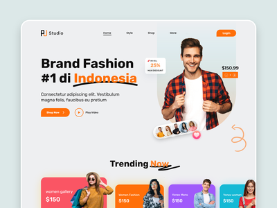 Brand Fashion Website Design interface web ui ux web ui photography style clothing brand ecommerce marketing landing page branding designer man fashion online shopping cloth fashion