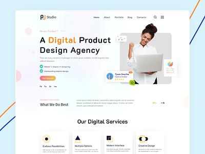 Digital Agency Landing Page Design ui design web design homepage website design web interface landing page digital agency