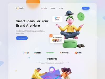 Smart Idea For Your Brand Landing Page Design branding idea website design brand website popular landing page smart idea