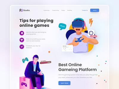 Online Game Platform UI mobile app web video game game platform tips play online game game
