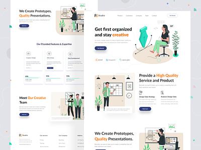 Creative Teams Website Design organization uiux graphic design designer dailyui concept brand identity brand design advertising creative designagency website landingpage agency