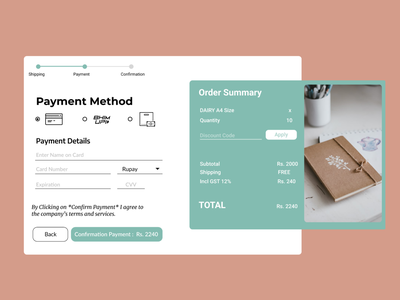 Daily UI :: 002 | Challenge #2 | Credit Card Checkout design ux ui creditcard-checkout dailyui