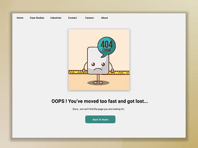 Daily UI :: 008   Challenge #8   404 Page illustration ux design ui error page 404 dailyui challenge login dailyui