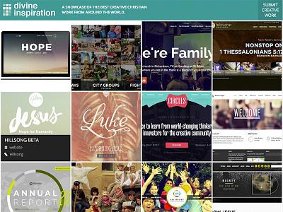 Introducing Divine Inspiration showcase gallery church christian design