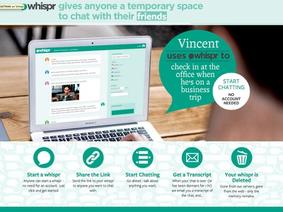Whispr hackathon web app app chat