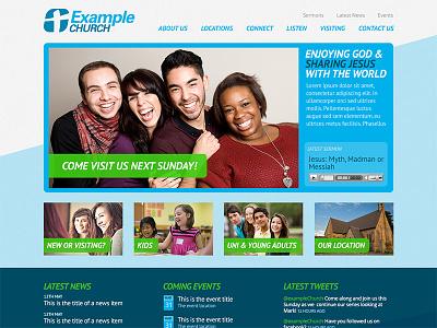 Churchsites Neon church website template
