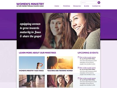 Women's Ministry Task Force church ministry women purple