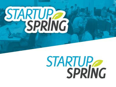 Startup Spring logo logo startup spring event branding