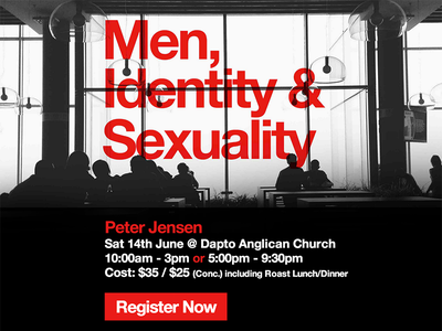 Men, Identity & Sexuality church sex sexuality overprint red helvetica identity