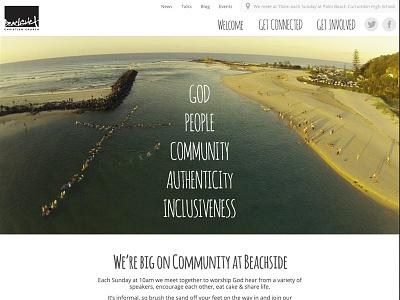Beachside Church church beach bright website