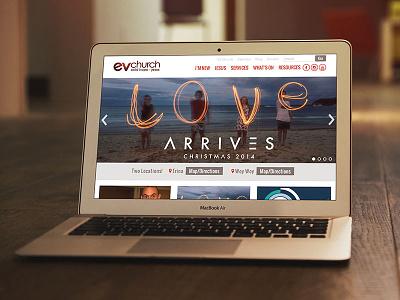 Ev Church church website modern white