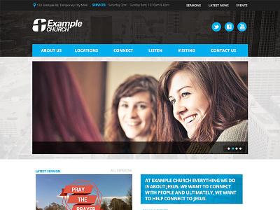 ChurchSites Graphite Theme church website churchsites blue grey
