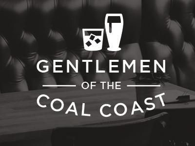 Gentlemen of the Coal Coast drinking whisky beer branding logo