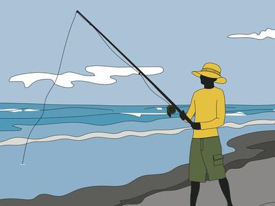 BeachFishing3 fishing rod catch summer beach surf fishing shore fishing beach fishing