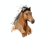 Low Poly Vector Horses