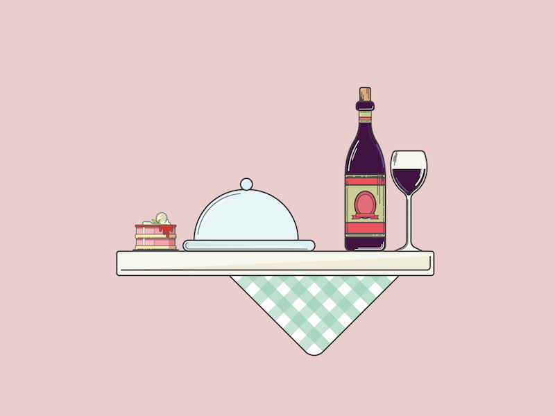 Giving Thanks flat design wine cake graphic design illustration