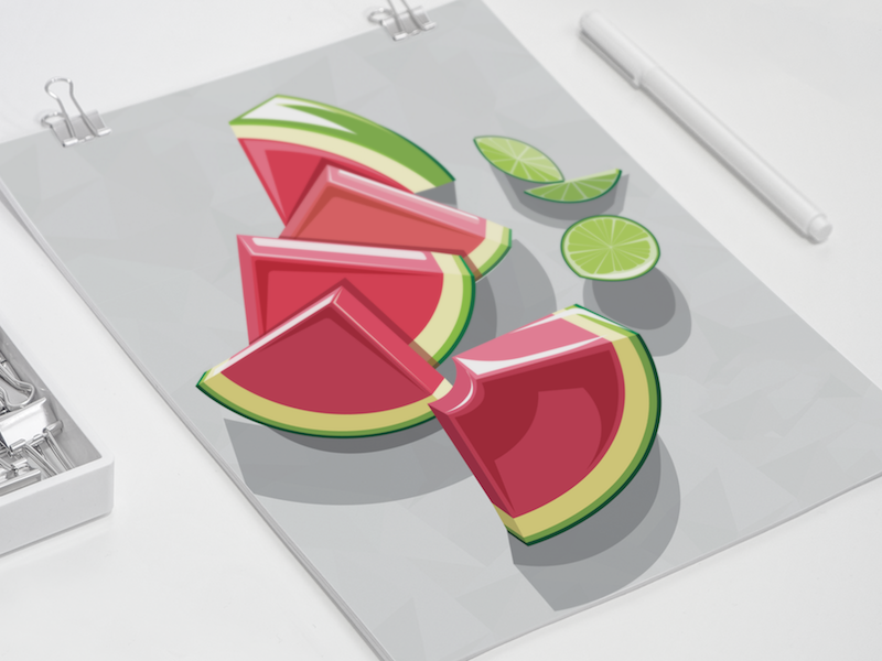 Watermelon illustration copy