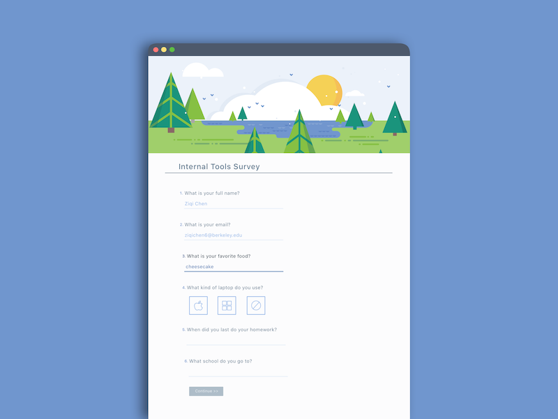 Survey Form forms illustration survey product user research interface product design ux ui