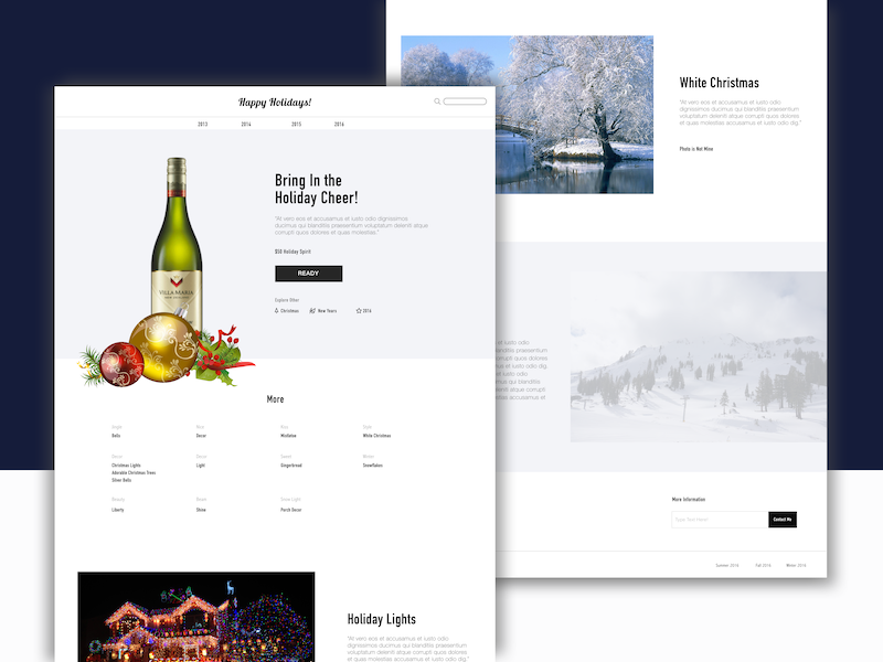 Holiday Spread christmas holidays layout design product user research interface product design ux ui