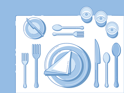Guide to Fine Dining classy silverware dining flat design wine cake graphic design illustration