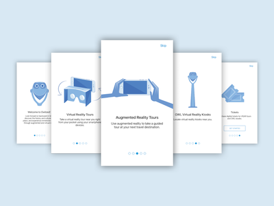 Onboarding Cards cards onboarding tours ar vr mobile application layout user research interface product design ux ui