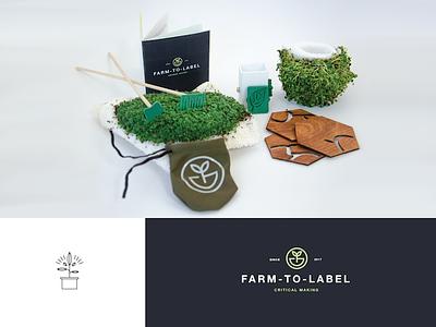 Farm To Label logo nature farm graphic design environment fashion product illustration design branding brand