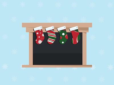 Christmas Stockings flat design holidays christmas stockings graphic design illustration