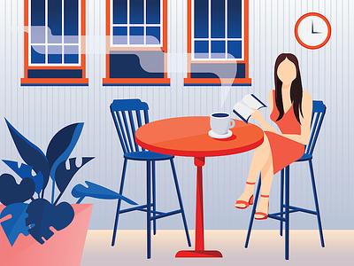 Coffee Shop illustrator vector shadows product design interface flat design design illustration graphic design