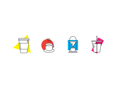 Modern Art Meets Modern Coffee icon shadows illustrator vector design illustration graphic design