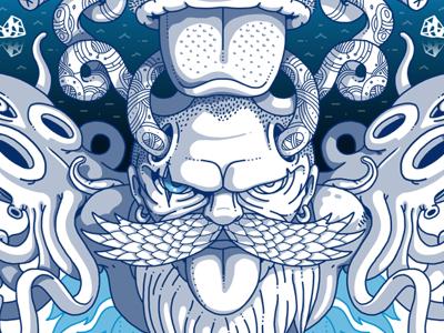 Norse Dede norse nordic blue color illustration illustrator istanbul wacom digital art art artist