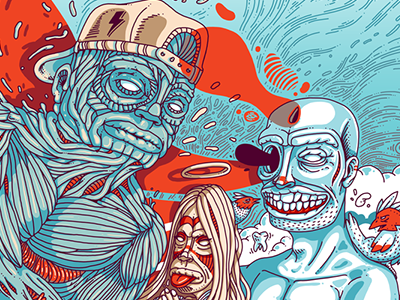 Free_Ze istanbul digital wacom artist illustrator illustration color woman fear peace art character design