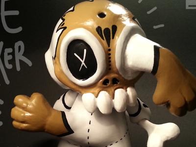 Bone Cracker custom vinyl toy custom toy bone munny custom munny toy design