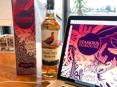 The Famous Grouse / Package illustration packaging branding scotland artist scotch istanbul turkey illustrator designer design famousgrouse