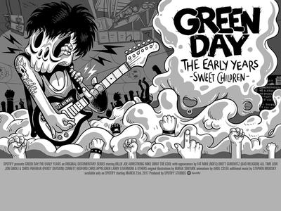 Spotify Landmark: Green Day Chapter 1 Poster character design art original illustration illustration greenday