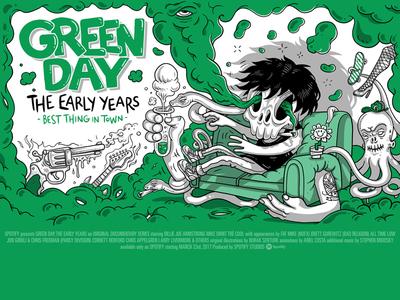 Spotify Landmark: Green Day Chapter 2 Poster character design art original illustration illustration greenday