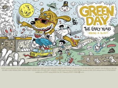 Spotify Landmark: Green Day Chapter 3 Poster greenday illustration original illustration art character design