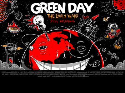 Spotify Landmark: Green Day Chapter 4 Poster greenday illustration original illustration art character design