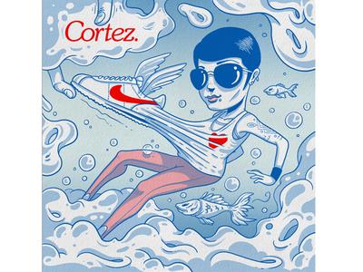 Nike Sportswear // #Cortez illustration series branding i drawing istanbul artsist illustrator illustration nike nikesportswear
