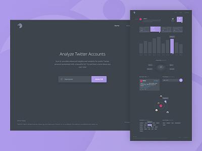 burrrd. Twitter Analytics debut analytics dark webdesign screendesign