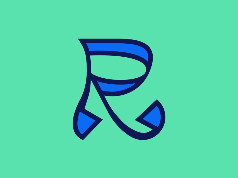 36 days of type R art 36daysoftype 36 days of type 36dayoftype lettering 36days flat design vector colour