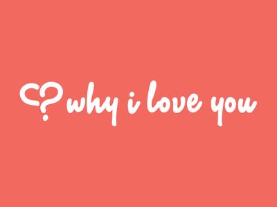Why I Love You web app logo foxio identity branding logo app