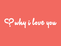 Why I Love You web app logo