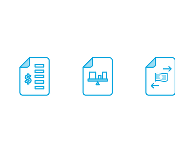 ProjectionHub icons for reports projectionhub foxio cash flow balance sheet income statement icons
