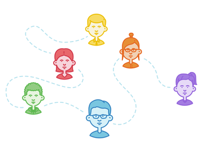 Characters from a Pactsafe infographic  foxio pactsafe infographic character illustration