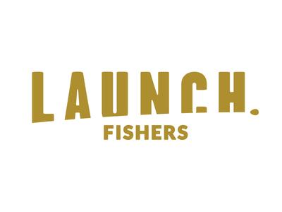 Launch Fishers Logo foxio branding logo coworking launch fishers